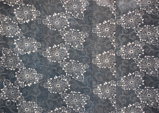 Antique large Kasuri hand-spun, indigo cotton futon cover, Japan Meiji Period, 19th century.