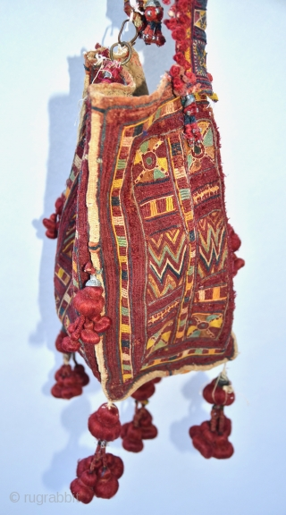 Banjara Embroidered Four-sided Marriage Bag, from Madhya Pradish, early 1900s.