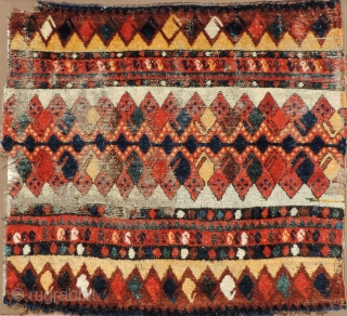 Early, rare and colorful non-Turkmen Central Asian panel of uncertain origin - possibly Arab Uzbek. It could date to the early 19th century, which for non-Turkmen Central Asian pile weavings is uncommonly  ...