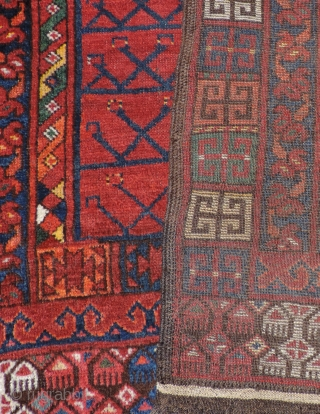19th Century Middle Amu Daria Ensi.  Possibly woven by an Uzbek or Turkmen group living in the region. This 19th century door rug has all natural dyes. The bright clear colors  ...