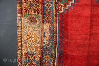 """18th century Mujur prayer rug 6'1"""" x 4'4"""" / 183 x 132cm"""