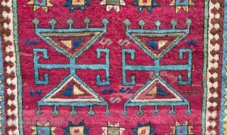 East Anatolian prayer rug.      Smaller than this type usually is and coarser . Some faded re-weave in the middle as shown and the bottom left corner  ...