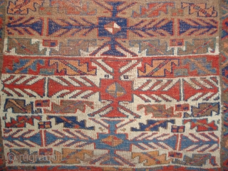 Jaff Kurd 9-Stage Totemic carpet, 41 x 74 inches.  NW Persian Kurdistan, 19th century.-- For more info and images please go to http://www.rugrabbit.com/profile/511  -- Please email me directly at jbatki@twcny.rr.com