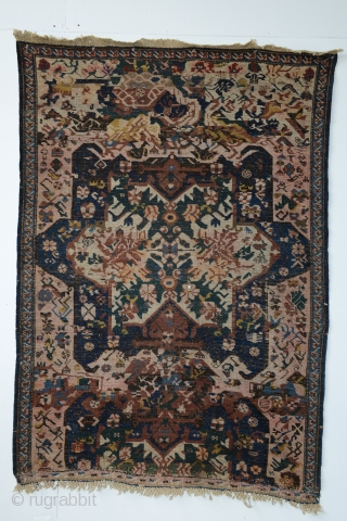 "KUBA ""Sport"" Fragment, Azerbaijan, Kuba-Seikhur region, late 19th century or pre-World War One.123 x 173 cm   (48.5 x 68 inches)Warp: 2-ply ivory wool