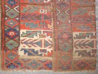 9-Stage Rocket, 41 x 74 inches. Wool and camel hair. Most likely NW Persian Kurdistan, 19th century