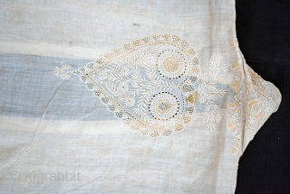 This particular ceremonial coat or Choga is ornate with the subtle and elegant embroidery called Chikankaari. With mesmerizing delicacy of needlework, the garment reflects the legacy of the Mughal courts and the  ...