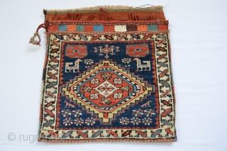 Sauj Boulag??  Colorful North west Kurdish  Probably Sauj Boulag Bagface made during first quarter of 20th century.