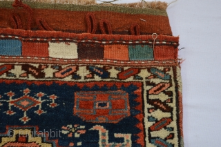 Sauj Boulag??  Colorful North west Kurdish  Probably Sauj Boulag Bagface made during first quarter of 20th century. beautiful meaty  wool and music for the eyes colors  weft is red with  ...