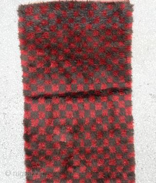 "Central Anatolian Vintage Tulu Rug  Size:157 x 88 Cm          2'11""x 5'1"""