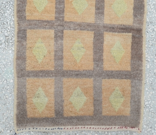 Central Anatolian Old Tulu Rug Size:75 x 118 Cm