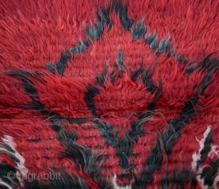 "Funky Turkish Filikli Vintage Angora Tulu rug from Konya Size:98 x 138Cm         3'1"" x 4'7"""