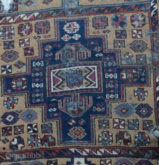 "East Anatolian Kurdish Rug-Late 19th Century Size:104 x 220         3'6""x7'1"""