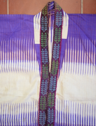Uzbek Silk Ikat Dress C.1900 in good condition