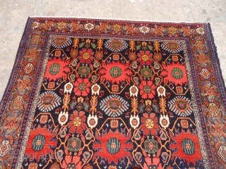 """Colorfull juicey Senneh Rug with excellent condition and colors,very fine weave..Size 6'6""""*4'6"""".E.mail for more info and pics."""