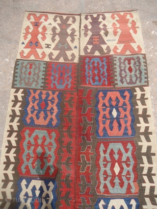 Colorfull Anatolian Kilim fragment with very fine weave and all natural colors.E.mail for more info and pics.
