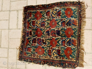 """Colorful Qashqai bagface with all natural colors and good age,nice design, Size 1'11""""*1'10.E.mail for more info and pics."""