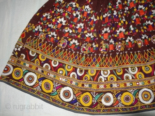 Ghaghra(Skirt)With Cotton and Silk Embroidery.From the Sodha Rajput Group of Kutch Gujarat. India.Its size is 85cmX300cm(DSC02131 New).