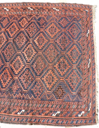 Antique Belouch full, unusual  size, 256 x 117, provide small restoration and washing. Price upon request