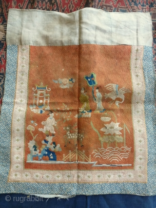 CHINESE EMBROIDERY  SILK  43 x 45