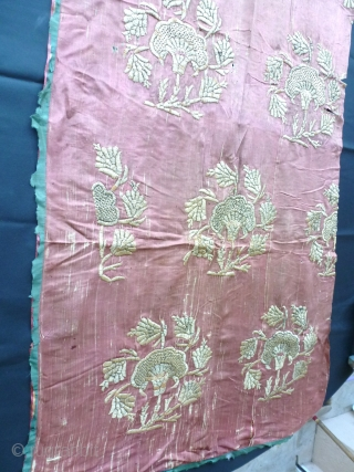 Persian or Ottoman fragment embroidery ?  150 x 66  Circa 1750/1800 Price upon request