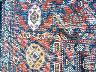 Antique Kurdish Synne,  197 x 140, missing a counter border. Price upon request
