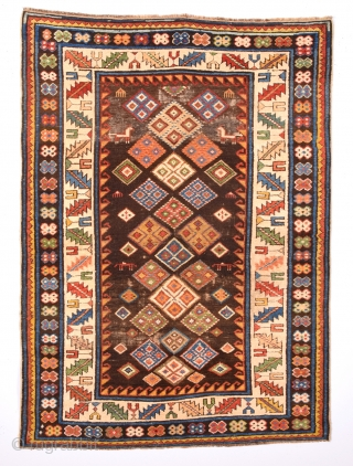 An Unusual 19th Century Shirvan Rug Size x 104 x 143 Cm.