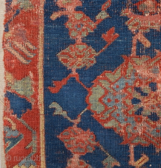 16th Century Unusual Ushak Fragment Would Be Part Of The This Piece Other Similar One.Source TIEM.Size 56 x 100 Cm