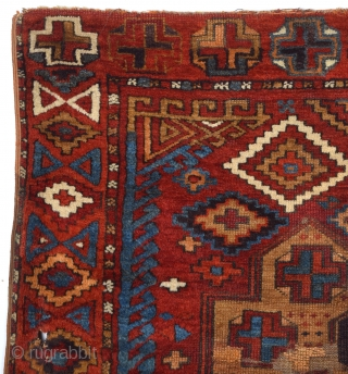 Early 19th Century Central Anatolian Konya Probably Karapınar Area Rug Size 150 x 160 Cm Ask about this