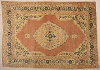A Nice Tebriz (Haji Jalili) Rug Size 125 x 177 cm.He name of the master weaver, Hadji Jallili (Haji Jalili), lives on as perhaps the single most important creator of unique Court  ...