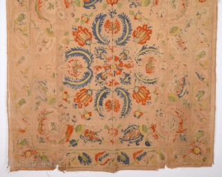 Early 18th May Late 17th Century Ottoman Textile Size 127 x 127 Cm