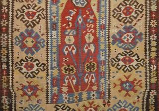 19th Century Anatolian Erzurum Prayer Kilim Size 118 x 172 cm