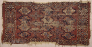 Probabaly Early 19th Century Ersari Chuval Size 70 x 140 cm