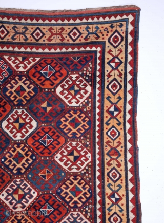 19th Century Caucasian Rug Size 155 x 265 Cm.It has really good pile.