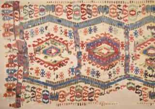 Early 19th Century West Anatolian Kilim Probably Karakuzu Izmir Area Size 150 x 350 Cm Already Mounted Professionally