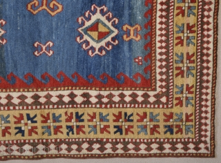 South Caucasian Karatchopf Rug.It's in Perfecet condition Only Lightly Corroded Brown, Size = ( 6ft.11in. x 5ft.2in. ) ( 156 x 209 cm )