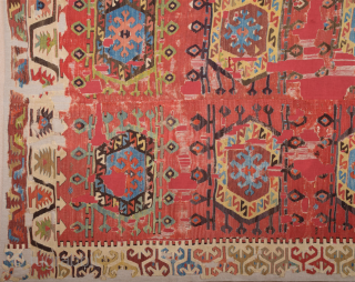 Early 19th Century Unusual Central Anatolian Probably Aksaray Küpeli Area Kilim Size 150 x 260 Cm Already Mounted Professionally
