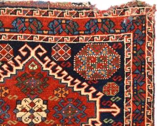 19th Century Lovely Qashqai Bag Size 69 x 53 Cm