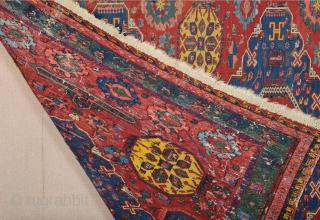 19th Century Kuba Sumac Size 180 x 225 cm