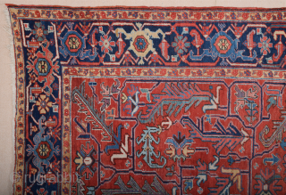 19th Century Persian Heriz Rug Size 255 x 325 cm in very good condition and all the colors are naturel.All the knots sides and ends are original.This Carpet was exported from Iran  ...