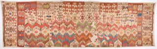Colors! Circa 1800s Central Anatolian Kilim already mounted professionally.It Has Great Colors Size 97 x 335 cm