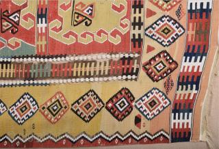19th Century Anatolian Erzurum Safh Kelim Size 160 x 225 cm