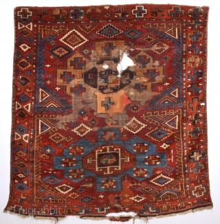 Early 19th Century Central Anatolian Konya Probably Karapınar Area Rug Size 150 x 160 Cm