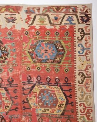 Early 19th Century Unusual Central Anatolian Probably Aksaray Area Kilim Size 150 x 260 Cm Already Mounted Professionally