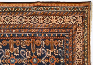 19th Century Caucasian Perepedil Rug.It Has Date But Difficult To Say May Would Be An Arabic Writ.Size 140 x 205 Cm.
