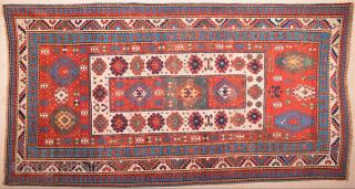 Colorful Caucasian Rug Circa 1850 Size 137x257 cm