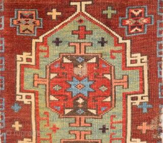 Circa 1800s Central Anatolian Probably Konya Karapınar Area Unusual Yastık.It's in Perfect Condition and Mounted Already Size  43 x 70 Cm