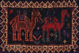 19th Century Afshar Bag size 30xx34 cm