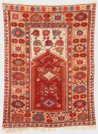 Mid 19th Century Melas Prayer Rug size 92x125 cm