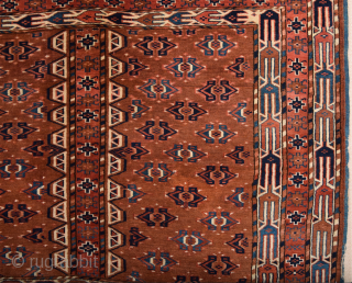 Late 19th Century Yamud Engsi It's in Perfect Condition and All is Original Untouched one Size 132 x 182 cm