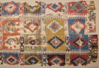 Circa 1800s or Early Anatolian Konya Kilim Fragment Probably Seydişehir Area Piece Size 153 x 295 cm